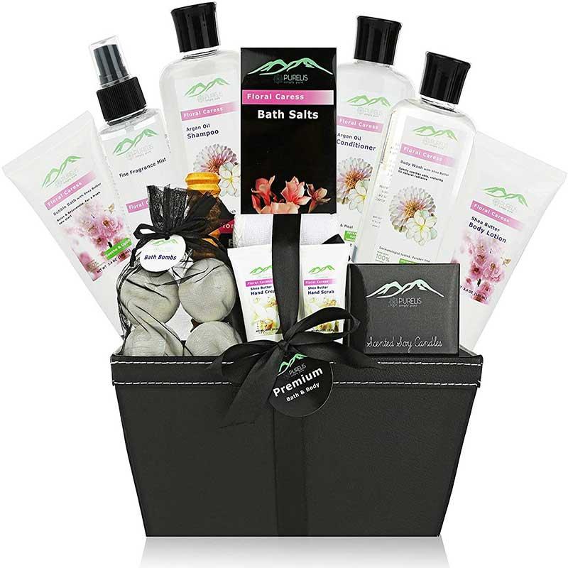 4.Purelis-floral-cress-bath-body-gift-basket