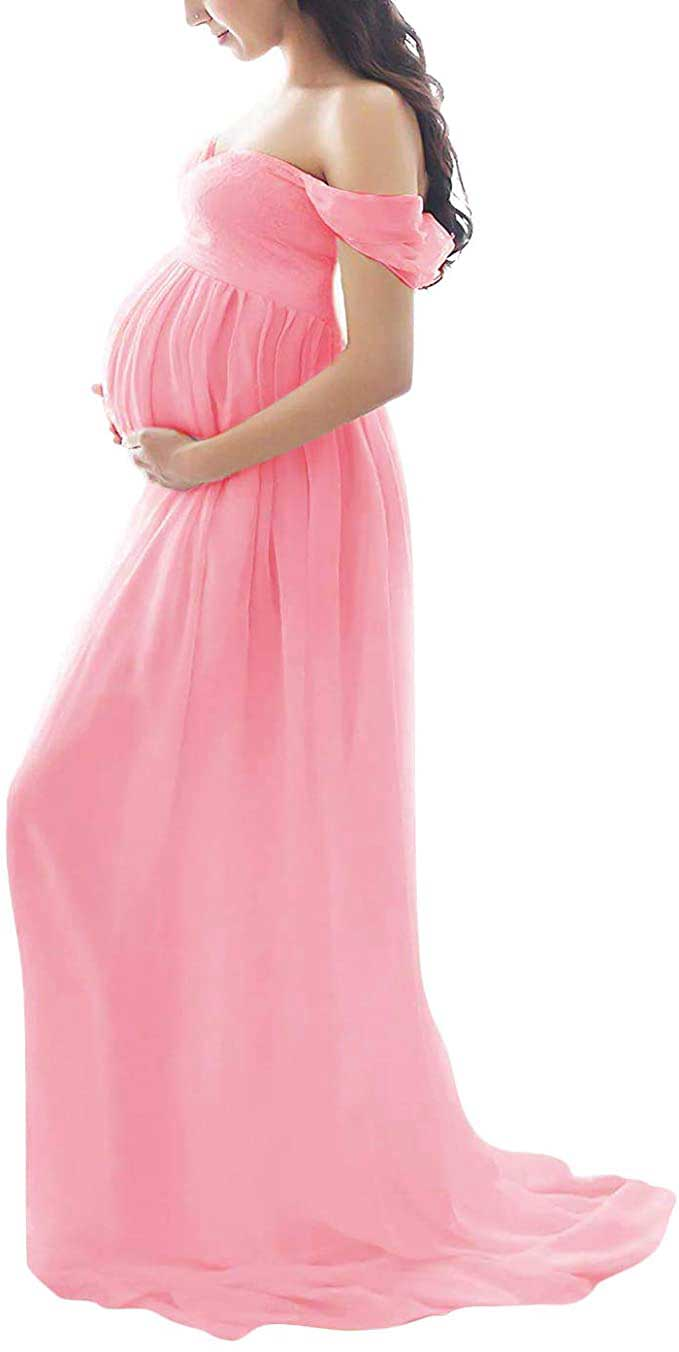 2.-Off-Shoulder-Maxi-Maternity-Gown-with-Split-Front